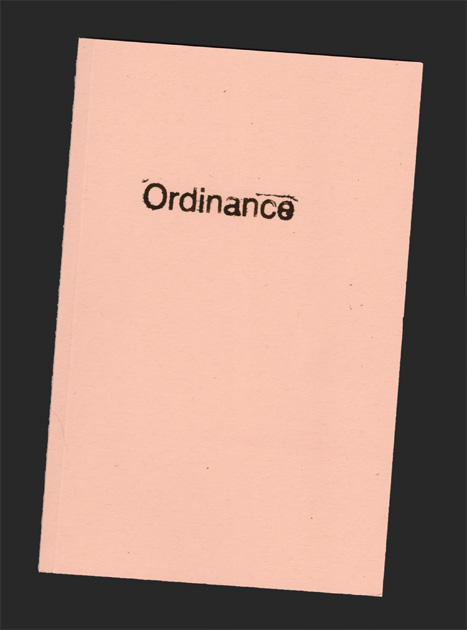 ordinance stamp on book cover